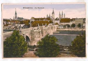 WURZBURG, Alte Mainbrucks, Bavaria, Germany, 10-20s
