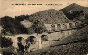 CPA  Dauphiné -  Ligne de La Mure - Les Viaducs de Loulla  (583998)