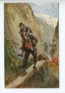 Raphael Tuck In The Alps  A Blunder of The Alps Postcard