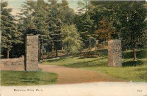 Birchardville Pennsylvania~Ross Park Stone Gate Entrance~1908 Postcard