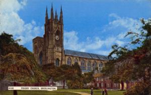 Postcard 1967 BRIDLINGTON Yorkshire Priory Church by H Coates Nene Series