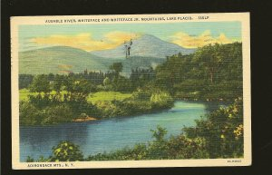 USA Postmark 1952 Littleton NH Whiteface Mountains Lake Placid Linen Postcard