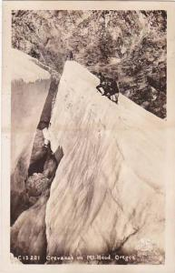 Oregon Mount Hood Crevasse On Mount Hood Real Photo