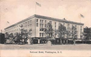 National Hotel, Washington, D.C., Early Postcard, Used in 1909