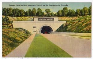 Eastern Portal to Blue Mt Tunnel, Penn Turnpike PA
