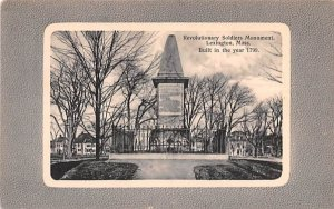 Revolutionary Soldiers Monument Lexington, Massachusetts Postcard