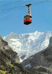 Switzerland Luftseilbahn Grindelwald Pfingstegg Fiescherhoerner