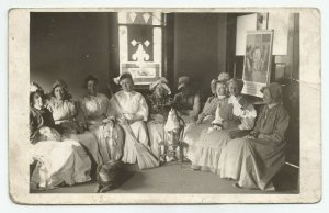 VTG Group Of Church Women Dresses Bonnets Jesus Poster  RPPC  Postcard