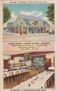 Pennsylvania Shartlesville Haag's Hotel Restaurant and Gas Station Curteich
