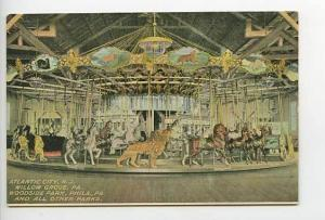 Atlantic City NJ Carousel Merry Go Round Ad Postcard