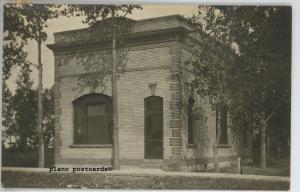GARDNER, NORTH DAKOTA, BANK-1909 RPPC REAL PHOTO POSTCARD
