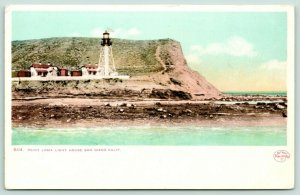 San Diego CA~Point Loma Lighthouse Close Up~Keepers Cottage~1905 Detroit Pub Co