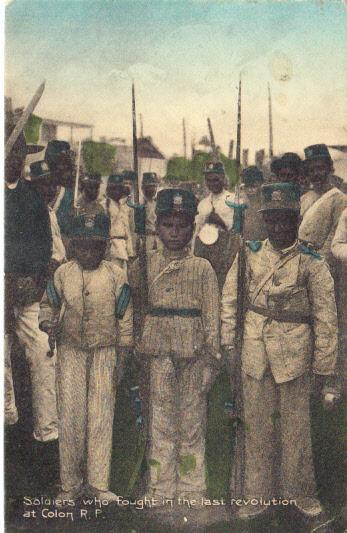 Soldiers who fought in the Last Revolution at Colon R.P.