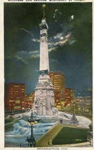IN - Indianapolis, Soldiers & Sailors Monument at Night