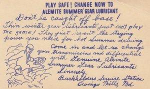 Baseball ; PLAY SAFE! ; Alemite Summer Gear Lubricant, OWINGO MILLS , Marylan...