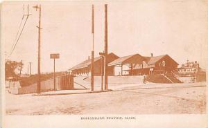 Roslindale MA Railroad Station Train Depot Postcard