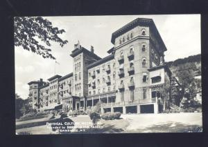RPPC DANSVILLE NEW YORK PHYSICAL CULTURE HOTEL VINTAGE REAL PHOTO POSTARD NY