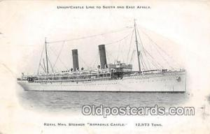 Royal Mail Steamer Armadale Castle Union Castle Line Ship Postcard Post Card ...