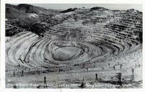 Pit & East Side Utah Copper Mine Bingham UT Vintage RPPC Standard View Card