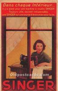 Advertising Postcard - Old Vintage Antique  Singer Sewing Machine