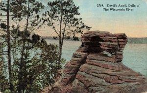 Postcard Devils Anvil Dells of the Wisconsin River