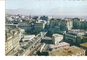 Postal 028035 : Lausanne, Le Grand-Pont et les Alpes