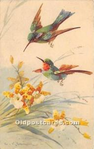 Artist Signed Catherine Klein Old Vintage Post Cards Unused
