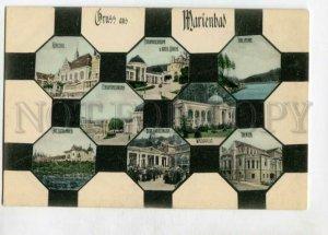 3147102 Czech Republic Gruss aus Marienbad Vintage postcard