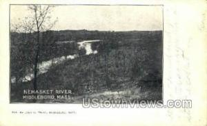 Nemasket River Middleboro MA Missing stamp postal used unknown