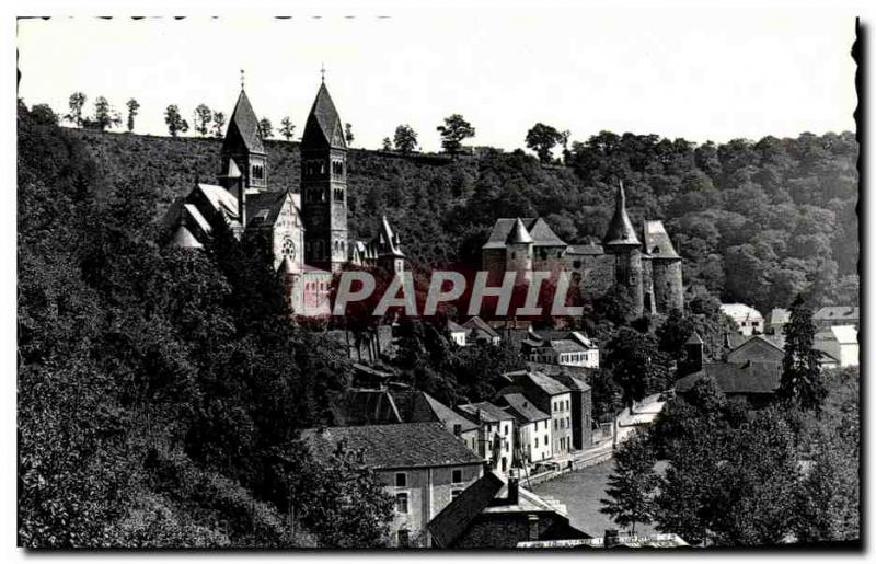 CPA Clervaux the Castle and the Luxembourg Church
