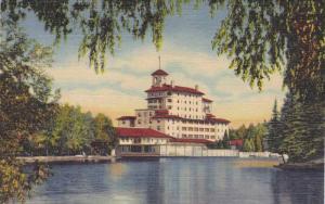 Vista of the Broadmoor Hotel,from the Lake, Pikes Peak Region, Colorado, 30-40s