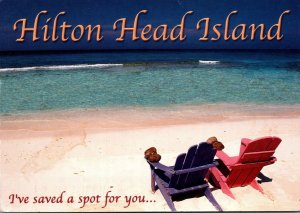 South Carolina Hilton Head Island Beach Scene I've Saved A Spot For You ...