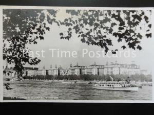 Old RP - St. Thomas's Hospital, London showing Thames Ferry Boat 'FORDSON'