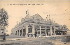 New Haven, Connecticut, CT, USA, USA Postcard The Merry Go Round at Savin Roc...