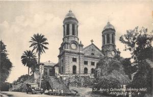 D41/ Antiqua B.W.I. West Indies Foreign Postcard 1939 St Johns Cathedral
