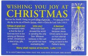 US Unused. Christmas. Wishing you Joy.