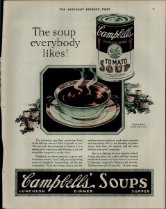 1927 Campbell's Tomato Soup The Soup Everybody Likes Vintage Print Ad 3920