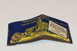The Maryland Casualty Company Advertising 1941 20 Strike Matchbook Cover
