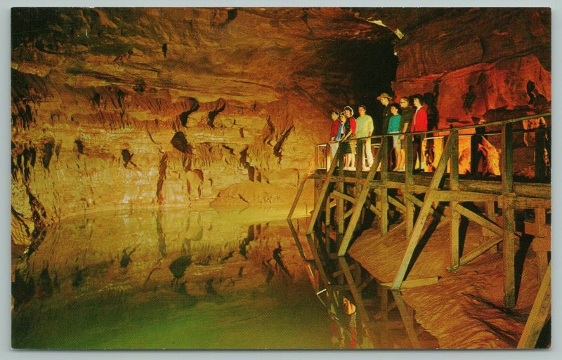 Mammoth Cave National Park Kentucky~Lake Lethe~Vintage Postcard
