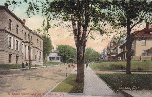 SHARON, Pennsylvania, PU-1909; East State Street looking East