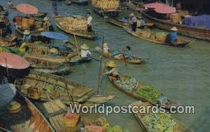 Dhonburi Thailand Wad Said Floating Market  Wad Said Floating Market