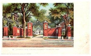 Massachusetts  Cambridge  , Harvard Univ.  Johnston Gate
