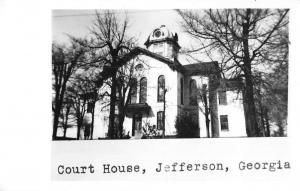 Real Photo Court House Jefferson Georgia Antique Postcard L2675
