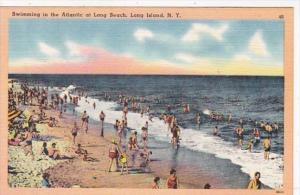 New York City Long Island Swimming In The Atlantic At Long Beach