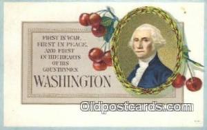 George Washington, 1st President USA, Political, Old Vintage Antique Postcard...