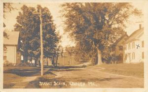 Oxford ME Dirt Street View in 1920 Real Photo Postcard