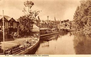 England Fordingbridge, The Riverside Tea Gardens, with Greetings