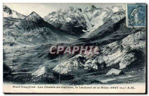 Old Postcard Dauphine Top Chalets du Galibier The Lautaret and meije