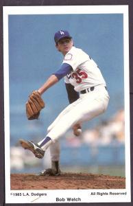 Bob Welch L.A. Dodgers Coca Cola Post Card PPC2434