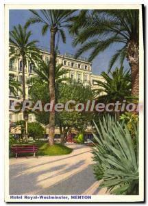 Postcard Modern Hotel Royal Westminster Menton